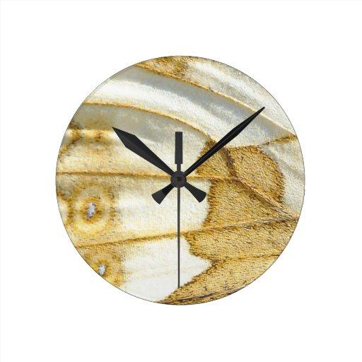 Butterfly Wing Design Round Wallclocks