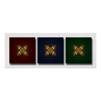 Butterfly Wing Kaleidoscope Trio Print