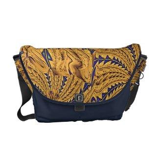 Butterfly Wing Mandala Messenger Bag