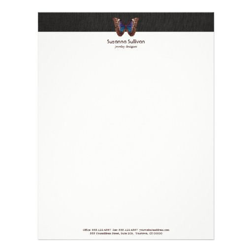 Butterfly Wing Nature Letterhead