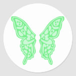 Butterfly Wings 3 Round Stickers