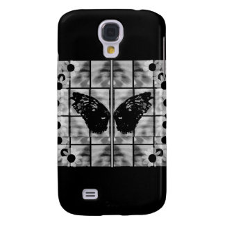 Butterfly wings daises black white galaxy s4 case