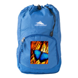 butterfly wings fly student school education class backpack