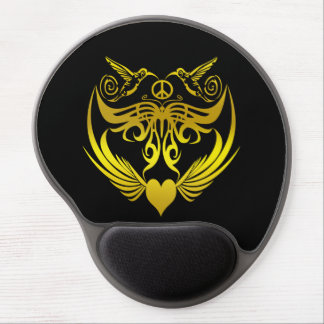 Butterfly wings hummingbirds Peace Gold Gel Mouse Pad