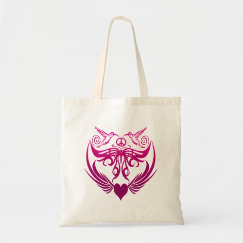 Butterfly wings hummingbirds Peace, pink Tote Bag