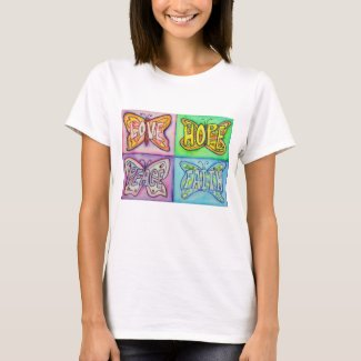 Butterfly Wings Inspirational Words Custom Shirts