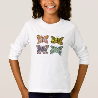 Butterfly Wings Inspirational Words Custom T-Shirt