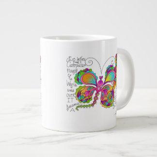 BUTTERFLY WINGS Mug by April McCallum 20 Oz Large Ceramic Coffee Mug