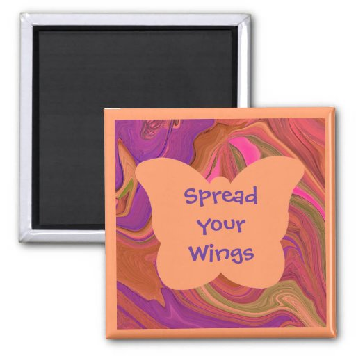 butterfly wings refrigerator magnet