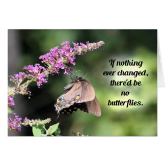 Butterfly Wisdom: If Nothing Ever Changed... Card