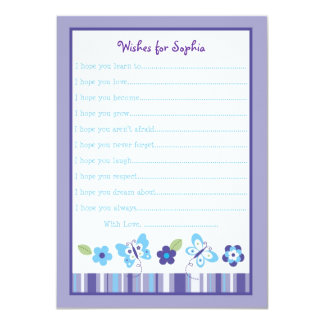 Butterfly Wishes for Baby Card