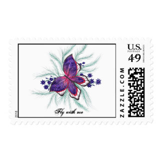 Butterfly Wishes Postage