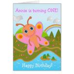 Butterfly wishing Happy Birthday Card