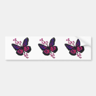 butterfly with blossom bumper sticker