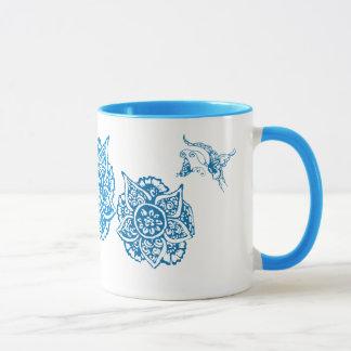 Butterfly with Flower(Henna)(Blue) Mug