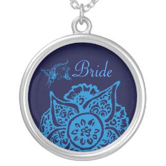 Butterfly with Flower(Henna)(Blue) Custom Jewelry