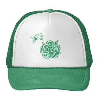 Butterfly with Flower(Henna)(Green) Hat