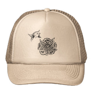 Butterfly with Flower(Henna) Trucker Hats