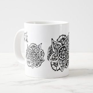 Butterfly with Flower(Henna) Large Coffee Mug