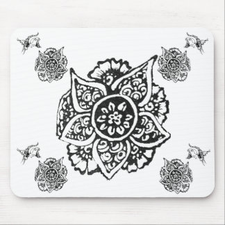 Butterfly with Flower(Henna) Mouse Pad