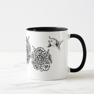 Butterfly with Flower(Henna) Mug