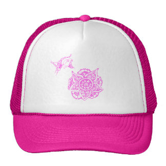 Butterfly with Flower(Henna)(Pink) Hats