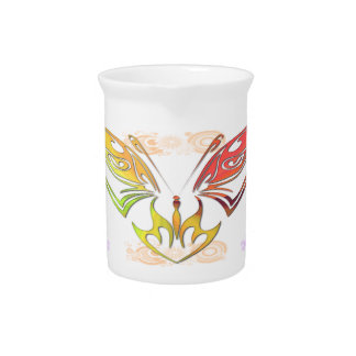 Butterfly with Flowers 19 oz Pitcher