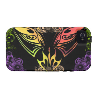 Butterfly with Flowers iPhone 4G Case-Mate Case iPhone 4 Covers
