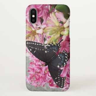 Butterfly with flowers iPhone x case