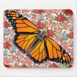 Butterfly With Flowers Mousepad