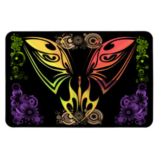 Butterfly with Flowers Premium Magnet