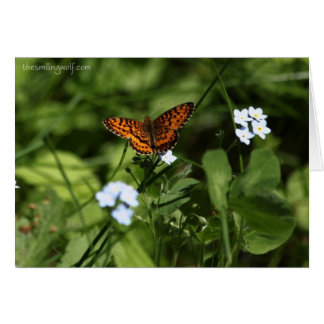 Butterfly With Forget-Me-Nots Card