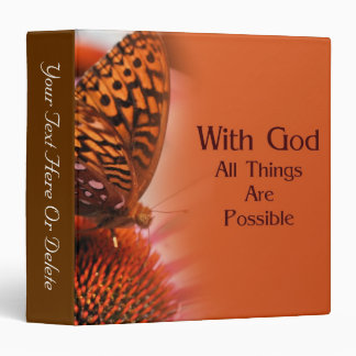 Butterfly With God Inspirational Nature Binder