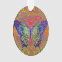 Butterfly with heart shaped patterns ornament (<em>$13.70</em>)