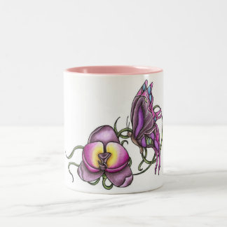 Butterfly with Orchid Mug
