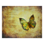 Butterfly With Poem Canvas Print