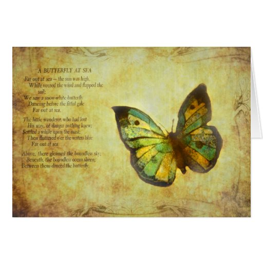 Butterfly with Poem Cards