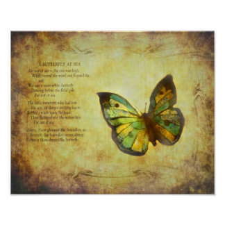 Butterfly With Poem Poster