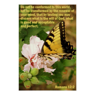 Butterfly with Romans 12:2 Print