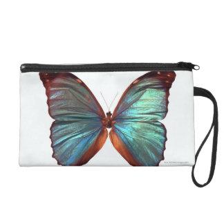 Butterfly with wings spread 2 wristlet purse