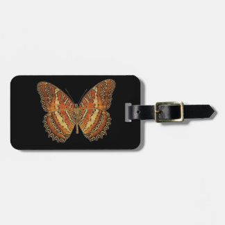 Butterfly with wings spread luggage tag