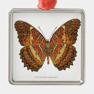 Butterfly with wings spread metal ornament