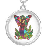 Butterfly Woman Floral Necklace
