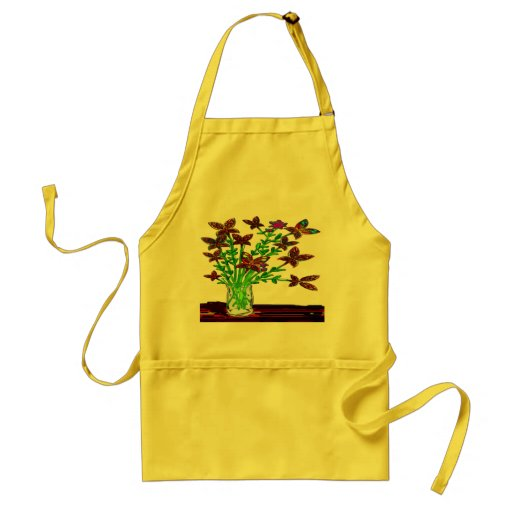 Butterfly Woman Flowers Three Appron Adult Apron