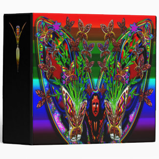 Butterfly Woman Flowers Vase Set Large Binder