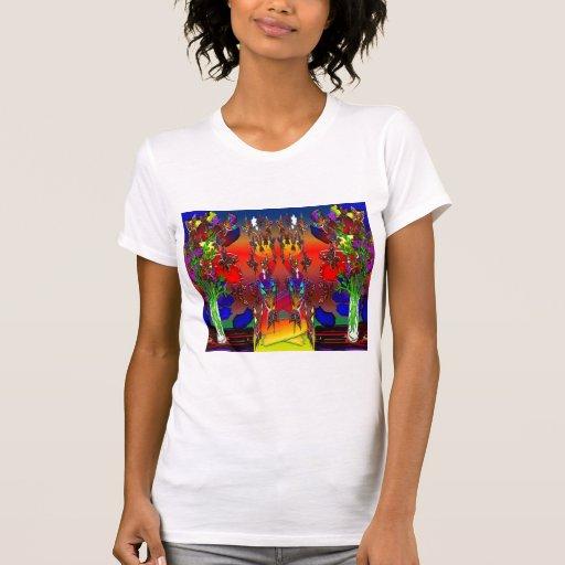 Butterfly Woman Flying Budda Plants T-Shirt
