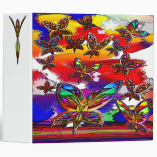 Butterfly Woman Flying Large Binder
