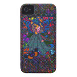 Butterfly Woman in Paisley Circled by Butterflies iPhone 4 Covers