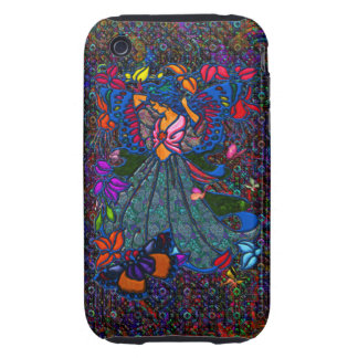 Butterfly Woman in Paisley Circled by Butterflies Tough iPhone 3 Cover