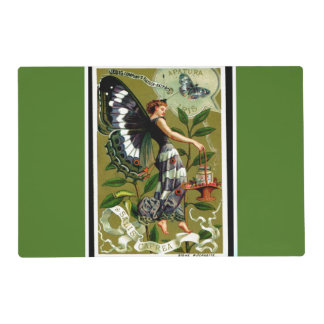 BUTTERFLY WOMAN laminated placemat